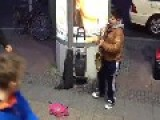 Berlin - Funny Kid Play Sax