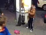 Berlin - Funny Kid Play Sax