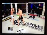 Brutal Knee KO In Cage Warriors Fight