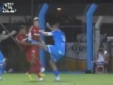 Brutal Flying Kick To The Chest In Brazilian Football Match