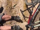 Bicyclist Almost Falls Off Cliff