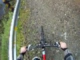 Bike Rider Tries To Base Jump Off Death Cliff - Bad Idea
