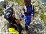 Basejumping In Norway: Throwing Blake Off A Cliff