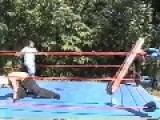 Backyard Wrestling: Ladder Vs Football Helmet
