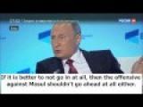 BRILLIANT: Putin Exposes Blatant Western Hypocrisy On Fighting Terrorists In Mosul Vs. Aleppo