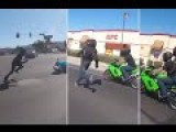 Biker Run Away From Police And Ditches Bike