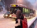 Bus In Toronto Gets Stuck, And A Guy Gets Very Excited