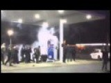 Berkeley Gas Station Explosion! Provocateur Throws Fireworks At Pump Near Police!