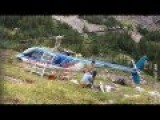 Bell 206 Helicopter Engine Change At 8000' BC Alberta Canada