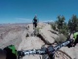 Biking Cliffside In Moab