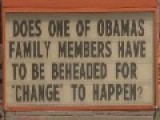 Business Hangs Controversial Obama Sign, Did They Go Too Far This Time? PICS
