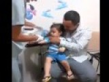Baby Laughing While Getting Injection
