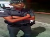 Brazilian On-Duty Cop Caught Sleeping While Standing Up Lol