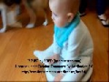 Baby Takes A Ride On A Runaway Roomba