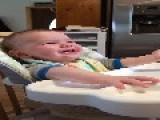 Baby Laughs Hysterically When He Is Scared