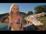 Bikini Bowfishing Episode 1 Florida Gator Hunt