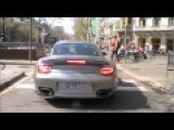 Beautiful Cars And Sounds On Barcelona, Spain. VOLUME