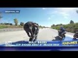 Bikers Tell California's Police Officer To 'GO AWAY'