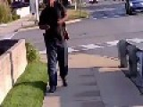 Black Guy Walks Around With AK-47 In White Suburbs