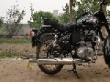 Balloon Explodes On Motorcycle Exhaust Pipe