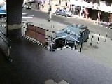 Bank Robbery Today In Hungary. Check Out The Hot Pursuit By The Security Guard