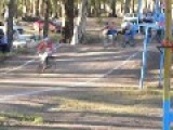 BMX Racer Falls And Trips Up Two Other Racers