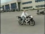 Biker's Friends Can't Prevent Stoppie Crash