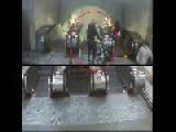 Biking Down Metro Escalator