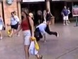 Break Dancer Gets His Head Crushed