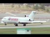 Boeing 727 Windy Approach And Hard Landing