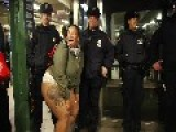 Big Booty Woman Wearing Panties Squats And Aims Her Posterior At NYPD
