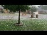 Baseball Sized Hail In Wylie, Texas April 11, 2011