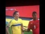 Black Soccer Player Touches Zlatan Ibrahimovic