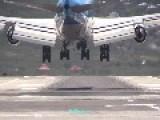 Boeing 747 Landing On Caribbean Beachside Runway