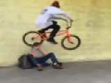 BMX Riders Bunny Hopping Homeless People In LA For Fun