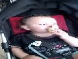 Baby Falls Asleep While Eating Ice Cream