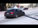 BMW M3 Driver Attempting Burnout At Wheels, Fails !!