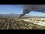 Big Fire In Ontario CA Footage Compilation From Regular Folks