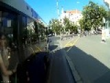 Bus Vs Cyclist, Guess Who Wins