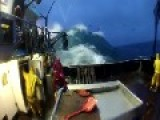 Big Wave Almost Wipes Out Crew