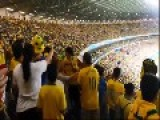 Brazilian Fans Fighting At The Stadium During The Semi-Final