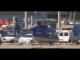 Beautiful Blue Helicopter TAKEOFF