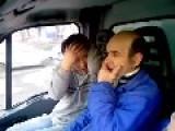 Bored Plumbers In Van