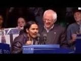 Bernie Sanders Hugs Undocumented People Onstage During Campaign Rally