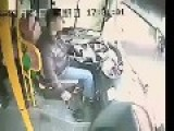 Bus Driver Escapes Death By Inches