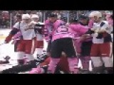 Bench Clearing Hockey Brawl