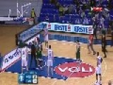 Basketball Player Knocks Down Rival's Hooligan