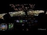 Boeing 737 Night Arrival