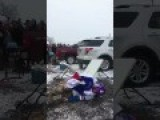 Bills Fan Snaps His Leg In Half Jumping Off Car Roof Onto Table