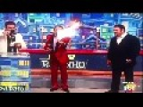 Brazilian Actor Entertainer Sets Himself On Fire Live On TV, And The Kids Love It